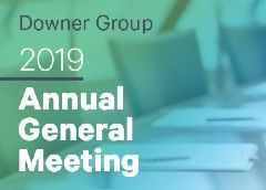 Downer's 2019 Annual General Meeting