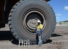 Leading the way in haul truck tyre safety