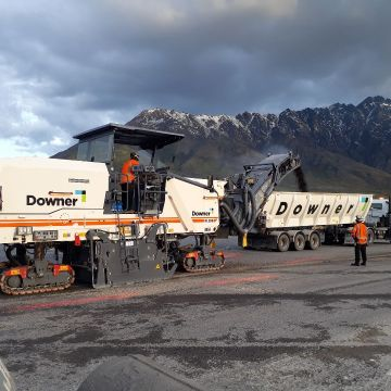 Low carbon asphalt used at Queenstown Airport